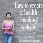 How to create a health coach website