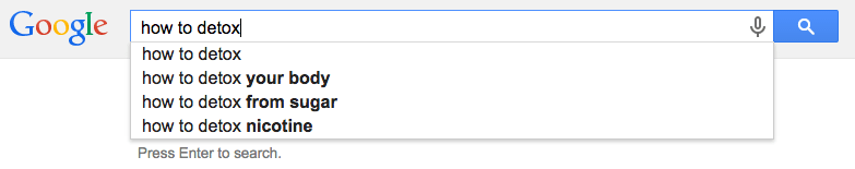 google suggestion how to detox