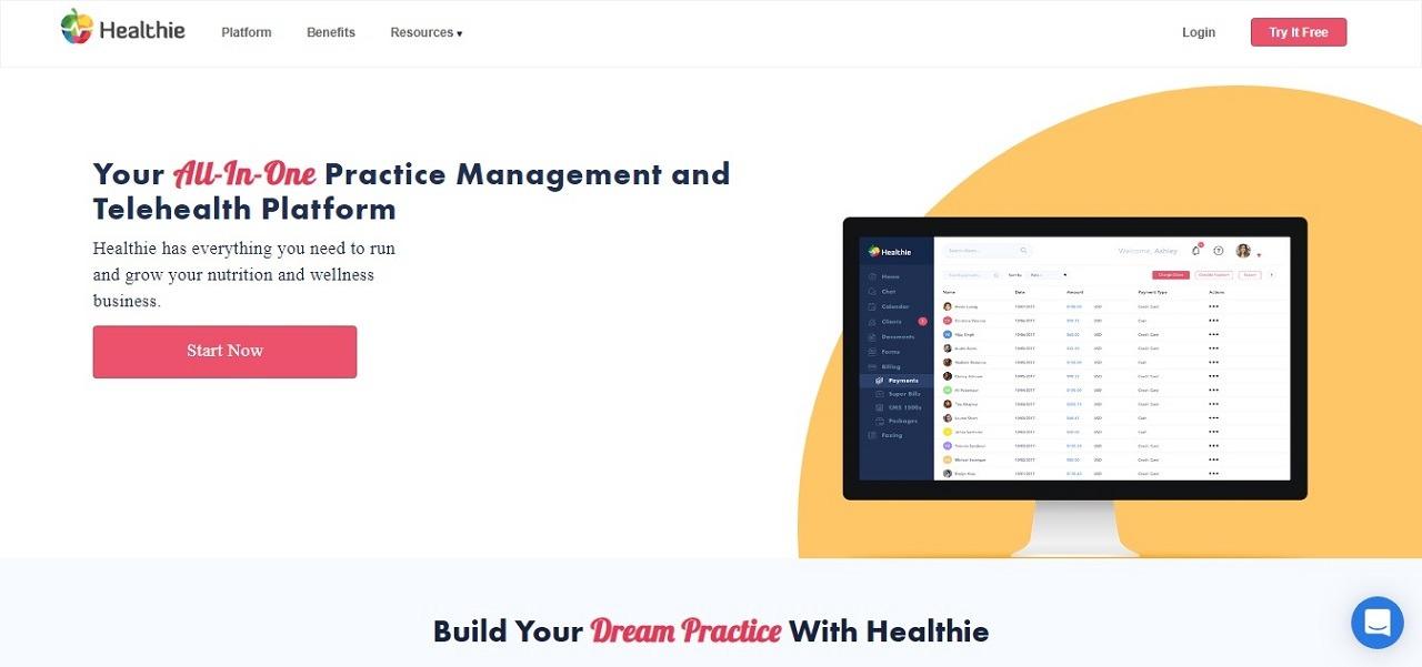 healthie screenshot