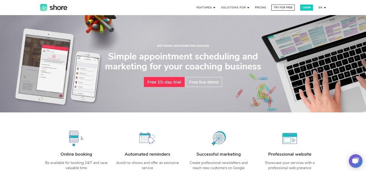 shores coaching software screenshot